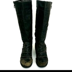 Steve Madden Distressed Leather Moto Boots